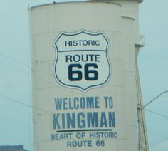 Route 66 Sign Kingman AZ. Some of Route 66 is still there.