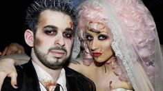 Dead bride and groom