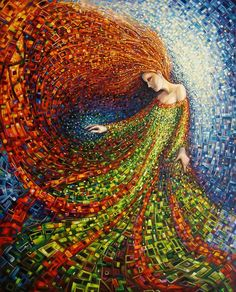 Mosaic art inspired by nature and myth Mosaic Crafts, Mosaic Projects, Stained Glass Art, Mosaic Glass, Arte Fashion, Mosaic Artwork, Mosaic Mirrors, Mosaic Wall, Mosaic Designs