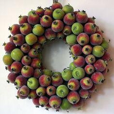 Custom Made Sugared Pomegranate And Apple Wreath