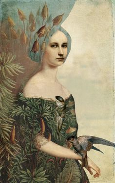 Catrin Welz-Stein Stein uses a mixture of old photographs and illustrations to create digital collages. her surrealist style is something i aspire for and hope to use similar concepts in my future work.