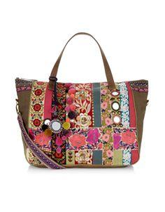 Suman Embossed Tote Bag Green Accessorize Bags Las Handbags Envelope Clutch