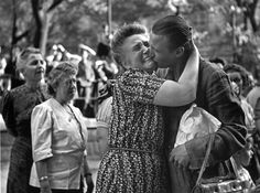© Ernst Haas, 1947, Homecoming Prisoners, Vienna / Austria His impromptu photographs capturing a group of Austrian women anxiously waiting f...