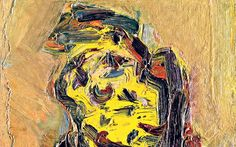 Detail from Frank Auerbach's 'Head of Ruth Bromberg' (1992) #art #painting