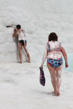 Couple in Pamukkale