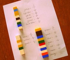 Create sticks with connect blocks and write the fraction of wag color