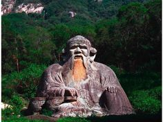 """Statue of Laozi in Quanzhou, China - Laozi was a philosopher of ancient China, best known as the author of the Tao Te Ching (often simply referred to as Laozi). His association with the Tào Té Chīng has led him to be traditionally considered the founder of philosophical Taoism (pronounced as """"Daoism""""). He is also revered as a deity in most religious forms of Taoist philosophy, which often refers to Laozi as Taishang Laojun, or """"One of the Three Pure Ones""""."""