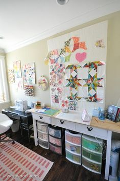Sewing Room Makeover on A Crafty Fox Blog