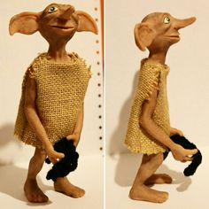 #DOBBY #harrypotter #elfdomestic #elfodomestico #deadlyhallows #chamberofsecrets #sculpey #harrypotter #handmade