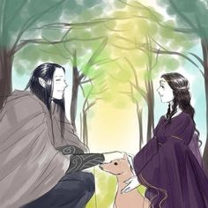 little Arwen meeting Maglor in the forests outside Rivendell // Okay but I'm gonna cry now << Yep my heart just broke
