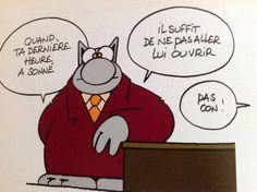 Le Chat est une série de dessins humoristiques de presse et de bandes dessinées créée par Philippe Geluck le 22 mars 1983 dans un supplément du journal belge Le Soir qui met en scène le héros éponyme dans de nombreux gags.......