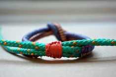 a few good things: diy wrapped and knotted cord bracelet.