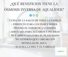 ¿Conoces los beneficios de la osmosis inversa de Aqualider?