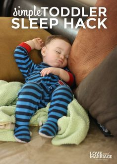 Several years ago I read about a certain food that may help you to fall asleep and so I tried it. Love this toddler sleep hack.