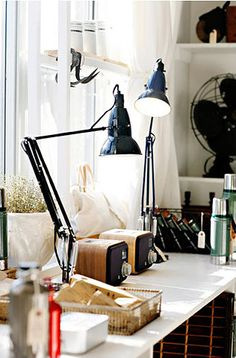 gasp!! need these lamps for my studio