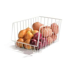 Pantry space is precious, so make it simple and easy with this medium wire basket! Pantry Organisation, Cupboard Storage, Kitchen Storage, Food Storage, Storage Organization, Linen Cupboard, Kitchen Cupboards, Cook Up A Storm, Wire Baskets