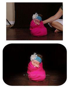 Newborn pose setup