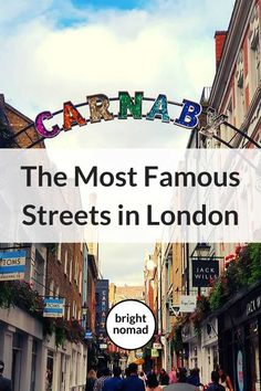 The stories behind the most famous streets in London, from Baker Street to Abbey Road, from shopping streets to historic streets. Europe Travel Guide, Travel Guides, Travel Destinations, Backpacking Europe, London In August, London Street, London City, London Places, London Travel