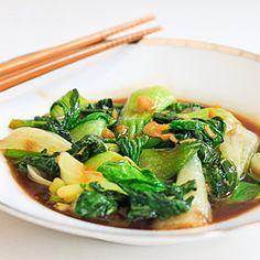 Stir-Fried Asian Greens – An Easy 10-Minute Side Dish #foodgawker