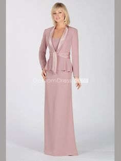 Sheath Chiffon Scoop Lavender Wrap ruffles Mother of the Bride Dress picture 1