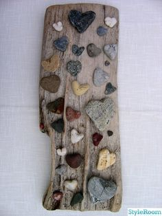 @adrienne Barton: your mission--if you choose to accept it--is to find a piece of driftwood on a significant outing. Then we can do this with all your heart rocks!