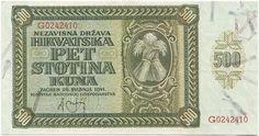 500 Kuna 1941 (Getreidegarben)  Kroatien Unabhängiger Staat (NDH)