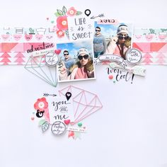 Scrapbook layout made with Studio Forty stamp sets, sticers and @crate_paper Heart Day collection. | Flora Monika Farkas