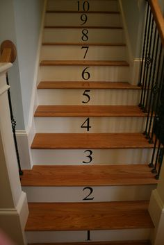 Love the numbered stairs done by Our Unexpected Journey!