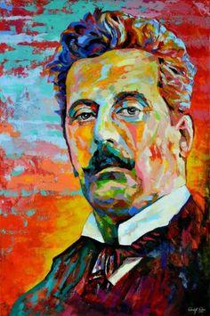 G. Puccini,  Acryl auf Leinwand, Maße: 80 x 120 x 4 cm, rückseitig betitelt, datiert, signiert und gestempelt, Entstehungsjahr: 03/2014, Das Bild ist zu 100 % gespachtelt, Artist: Rudolf Rox