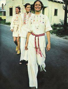 Seventeen March 1971, in front model Shelley Hack
