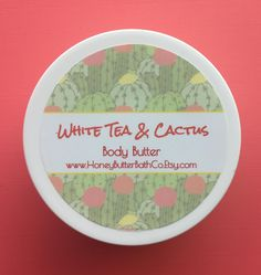 ON SALE White Tea & Cactus Body Butter | Lotion | Cream | Cactus | Organic | Bath | Beauty | Mom | Succulent | Desert | Tea | Ginger | Relax - $5.00 USD Wax Bath, Bathing Beauties, Body Butter, Bath And Body, Lotion, Cactus, Succulents, Deserts, Relax