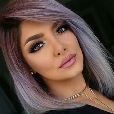HAIRSPIRATION| This #haircolor on @sheidafashionista is EVERYTHING That silvery purple color is GORG #voiceofhair ========================= Go to VoiceOfHair.com ========================= Find hairstyles and hair tips! =========================