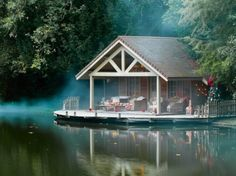 Floating Lake Cottage, Campagne, France | La Beℓℓe ℳystère