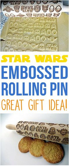 Make Star Wars cookies with this Star Wars embossed rolling pin! Makes a great unique gift idea! {affiliate}