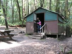 Big Basin Redwoods Park - tent cabins for folks who want to easy in gently.