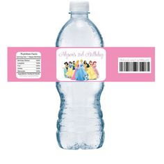 Disney Princess Birthday Personalized Water