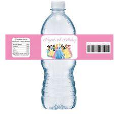Disney Princess Birthday Personalized Water