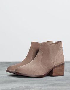 Bershka Turkey - Bershka leather elastic ankle boot