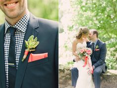 LOVE the patterned shirt! would be awesome to have the groomsmen in flat colours and the groom in the patterned shirt to differentiate! Wedding Men, Wedding Dreams, Wedding Suits, Wedding Attire, Our Wedding, Coral Groomsmen, Groomsmen Looks, Groom Looks, Wedding Colors