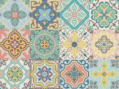 """Vinyl decal self-adhesive Portuguese sticker Tiles BELEM Collection (Pack of 12) (6""""x6""""