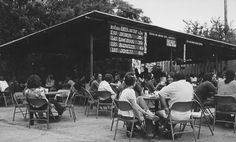 Armadillo beer garden, $1.50 for a pitcher of Shiner. And the guacamole chalupas were killer. Those were definitely the days. Armadillo World Headquarters, Austin.