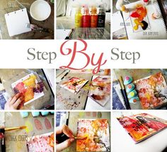 Art journal kasia sbs. Prima blog. Quick and easy project.