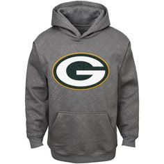 NFL Boys' Green Bay Packers SyntheticHooded Fleece Top, Size: XS, Gray Green Bay Packers Shirts, Green And Gold, Team Logo, Hooded Sweatshirts, Hoods, Nfl, Walmart, Sweaters, Gray