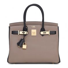 4832c5af9a #Hermes #Birkin #Bag HSS Etoupe Black Swift Gold Hardware #Hermeshandbags