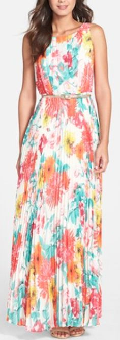 pretty pleated chiffon gown
