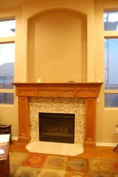 Originally a slump block fireplace that was painted white we