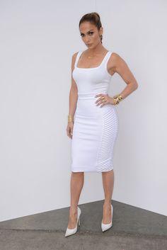 Jennifer Lopez wearing Milly Spring 2014 Skirt