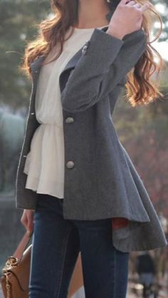 Asymmetric Fit-and-flare Blazer