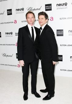 Actors Neil Patrick Harris and David Burtka arrive at the 20th Annual Elton John AIDS Foundation's Oscar Viewing Party held at West Hollywood Park on February 26, 2012 in West Hollywood, California.