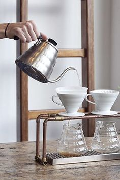 Pour over coffee stand/ Drip coffee stand ( ash ) Retro Cafe, Coffee Dripper, V60 Coffee, Drip Coffee, Coffee Brewer, Coffee Maker, Coffee Shops, Coffee Cup, Radio Coffee